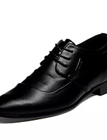 cheap -Men's Shoes PU Fall Comfort Oxfords for Outdoor Black