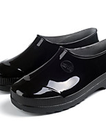 cheap -Women's Shoes PVC Leather Spring Rain Boots Boots Flat Heel Black / Blue / Burgundy