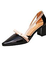economico -Per donna Scarpe Sintetico / PU (Poliuretano) Estate Comoda Tacchi Footing Heel di blocco Appuntite Fibbia Nero / Arancione / Beige