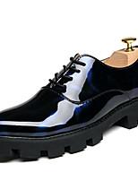 Недорогие -Муж. обувь Лакированная кожа Зима Удобная обувь Туфли на шнуровке Черный / синий