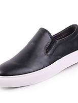 Недорогие -Муж. обувь Кожа Осень Удобная обувь Мокасины и Свитер Черный / Синий