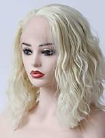 Недорогие -Синтетические кружевные передние парики Волнистый Стрижка боб 150% Человека Плотность волос Искусственные волосы Жаропрочная / Женский /