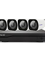 abordables -YanSe H.265 4 canales 1080P (1920*1080)(Continuo Manual / programado Detección de movimiento de grabación)