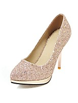 cheap -Women's Shoes Paillette Spring Comfort Heels Stiletto Heel Pointed Toe Sequin Gold / Silver / Party & Evening