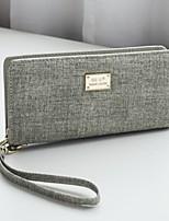cheap -Women's Bags PU Wallet Zipper Beige / Gray / Light Grey