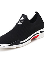 cheap -Men's Shoes Tulle Fall Comfort Sneakers Black / Gray