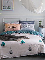 cheap -Duvet Cover Sets Geometric Poly / Cotton Reactive Print 3 Piece