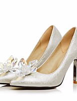cheap -Women's Shoes PU(Polyurethane) Spring & Summer Basic Pump Heels Stiletto Heel Pointed Toe Rhinestone Silver