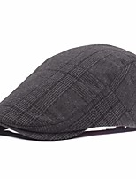 cheap -Men's Vintage Polyester Beret Hat - Striped Layered