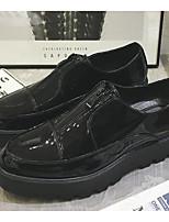 Недорогие -Муж. обувь Кожа Осень Зима Удобная обувь Мокасины и Свитер для Повседневные Черный