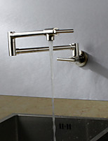 cheap -Kitchen faucet - Contemporary Nickel Brushed Standard Spout Wall Mounted