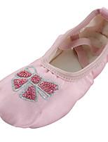 abordables -Fille Chaussures de Ballet Soie Plate Fleur Talon Plat Chaussures de danse Rose / Intérieur / Entraînement