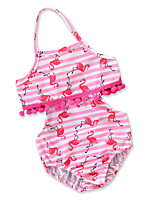 cheap -Toddler Girls' Striped Print Color Block Sleeveless Swimwear