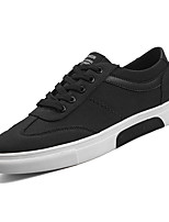 cheap -Men's Shoes Fabric / PU Fall Comfort Sneakers Black / Gray / Black / White