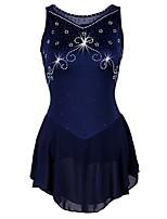 Недорогие -Платье для фигурного катания Жен. Катание на коньках Платья Темно-синий strenchy Выступление / Профессиональный стиль Одежда для