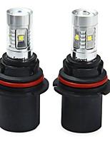 cheap -SENCART 2pcs 9007 / 9004 Car / Motorcycle Light Bulbs 30W SMD LED 1800-2100lm 6 LED Fog Light For universal All years