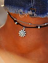 abordables -Soleil Bracelet de cheville - Femme Argent Décontracté / Bohème / Multicouches Forme de Cercle Bracelet de cheville Pour Cadeau / Bikini