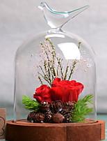 abordables -Fleurs artificielles 1 Une succursale Elégant Roses Fleur de Table