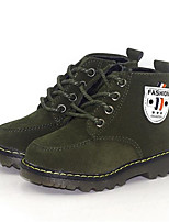 cheap -Boys' Shoes Nubuck leather Winter Combat Boots Boots for Yellow / Green / Burgundy