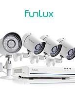 Недорогие -funlux® 4ch 1080p hdmi nvr упрощенная система управления 4x 720p hd на открытом воздухе / в помещении