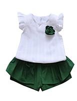 cheap -Kids Unisex Print Short Sleeve Clothing Set