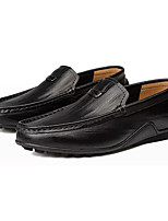 cheap -Men's Shoes Cowhide Fall Moccasin Loafers & Slip-Ons for Outdoor Black Yellow Brown