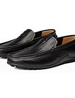 Недорогие -Муж. обувь Кожа Осень Мокасины Мокасины и Свитер для на открытом воздухе Черный Желтый Коричневый