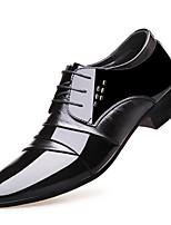 Недорогие -Муж. обувь Лакированная кожа Лето Удобная обувь / Формальная обувь Туфли на шнуровке Черный
