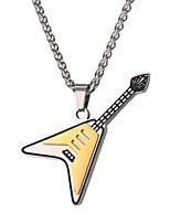 abordables -Homme Pendentif de collier  -  Mode Guitare Or 55cm Colliers Tendance Pour Quotidien