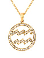 cheap -Cubic Zirconia Pendant Necklace  -  Fashion Gold, Silver 55 cm Necklace For Daily