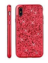 Недорогие -Кейс для Назначение Apple iPhone X / iPhone 8 Покрытие / Сияние и блеск Кейс на заднюю панель Сияние и блеск Твердый ПК для iPhone X / iPhone 8 Pluss / iPhone 8