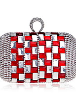 cheap -Women's Bags Acrylic / Rhinestones Evening Bag Rivet / Crystals for Wedding / Event / Party Champagne / Red / Dark Gray