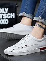 cheap -Men's Shoes Cowhide Summer Comfort Sneakers White / Black