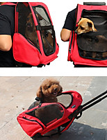 cheap -Dogs Cats Carrier & Travel Backpack Pet Carrier Portable Breathable Travel Solid Colored Purple Red Green