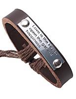 Недорогие -Кожаные браслеты - Этнический, Мода Браслеты Черный / Кофейный Назначение Повседневные / Для улицы