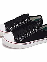 Недорогие -Жен. Обувь Полотно Весна / Осень Удобная обувь Кеды На плоской подошве Белый / Черный / Розовый