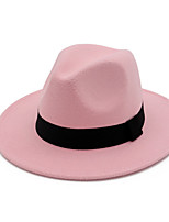 cheap -Women's Vintage Party Basic Cotton Fedora Hat - Solid Colored