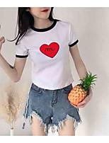 cheap -women's t-shirt - color block round neck