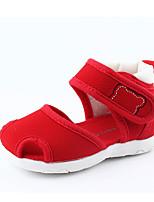 Недорогие -Мальчики / Девочки Обувь Ткань Лето Обувь для малышей Сандалии для Красный / Синий / Розовый