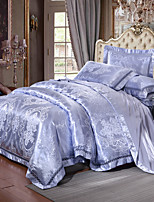 cheap -Duvet Cover Sets Luxury Silk / Cotton Blend Jacquard 4 Piece
