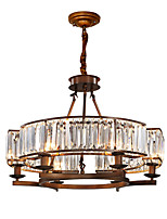 cheap -ZHISHU 6-Light Crystal Chandelier Ambient Light - Crystal, Mini Style, Adjustable, 110-120V / 220-240V Bulb Included / 15-20㎡