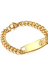 cheap -Men's 1 Chain Bracelet - Fashion Geometric Gold Silver Bracelet For Gift Daily