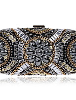 cheap -Women's Bags Glasses / Acrylic Evening Bag Beading / Crystals for Wedding / Event / Party White / Black / Blushing Pink