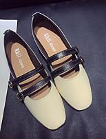cheap -Women's Shoes PU(Polyurethane) Summer Comfort Flats Low Heel Black / Beige