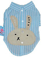 cheap -Dogs / Cats / Pets T-shirts Dog Clothes Striped / Rabbit / Bunny / Cartoon Purple / Blue / Pink Cotton / Polyester Costume For Pets Male