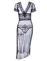 abordables -Body Vêtement de nuit Femme - Maille, Couleur Pleine