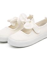 Недорогие -Девочки Обувь Полотно Лето Балетки На плокой подошве Бант для на открытом воздухе Белый Черный Оранжевый Пурпурный Розовый