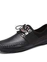 Недорогие -Муж. обувь Наппа Leather Весна Осень Удобная обувь Мокасины и Свитер для Повседневные Офис и карьера Черный Коричневый