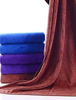 abordables -Qualité supérieure Serviette de bain, Couleur Pleine Polyester / Coton 1 pcs