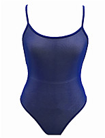 cheap -Women's Teddy Nightwear - Cut Out / Mesh, Solid Colored